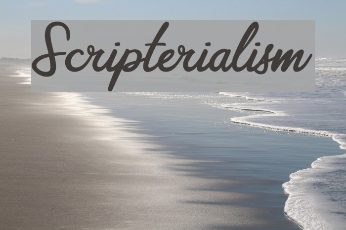 Scripterialism Font examples