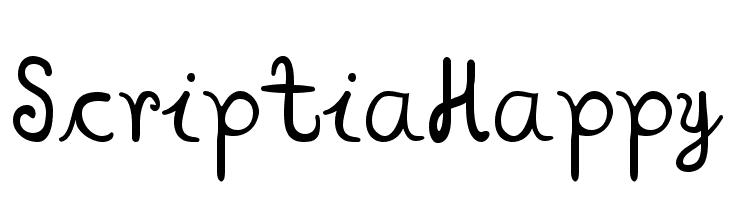 ScriptiaHappy  les polices de caractères gratuit télécharger