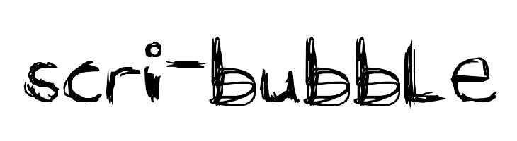 scri-bubble  baixar fontes gratis