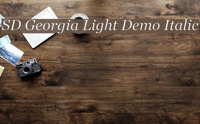 SD Georgia Light Demo Italic Font examples