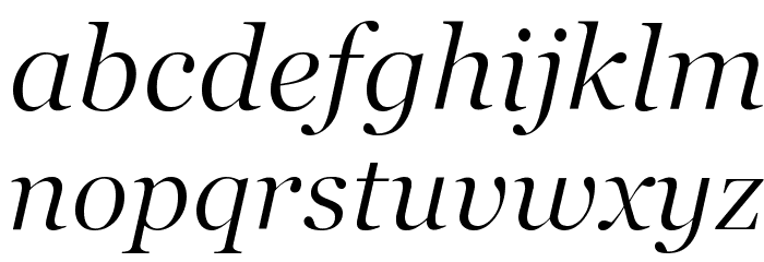 SD Georgia Light Demo Italic Font LOWERCASE