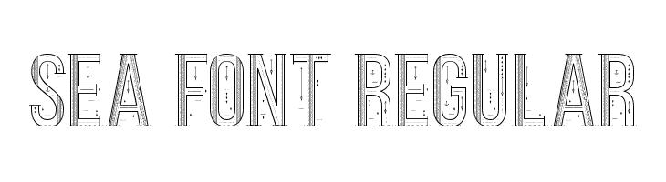 Sea Font Regular  नि: शुल्क फ़ॉन्ट्स डाउनलोड