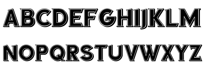 Sea Gardens 3D Filled Regular Font LOWERCASE