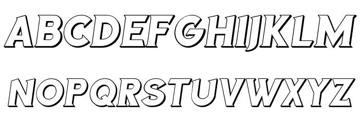 Sea Gardens 3D Italic Font UPPERCASE