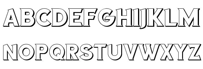Sea Gardens 3D Regular Font UPPERCASE
