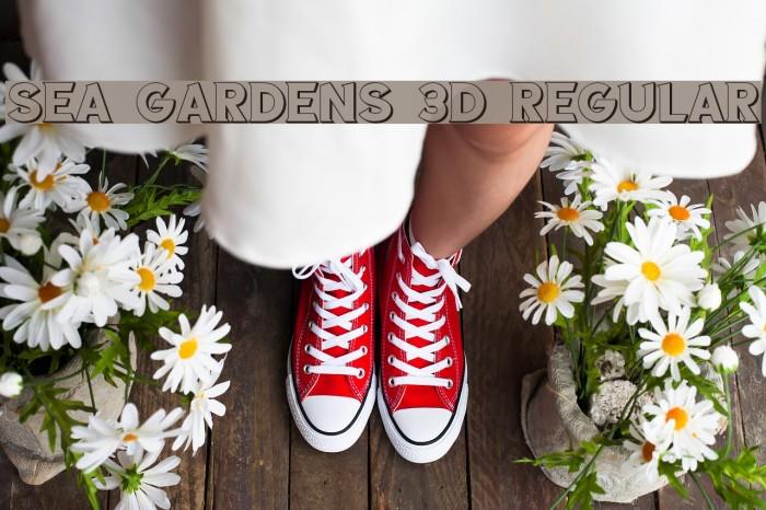 Sea Gardens 3D Regular Font examples