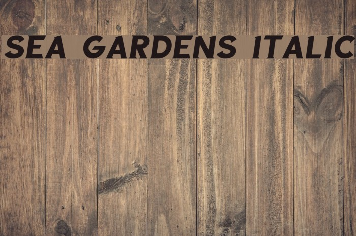Sea Gardens Italic Font examples