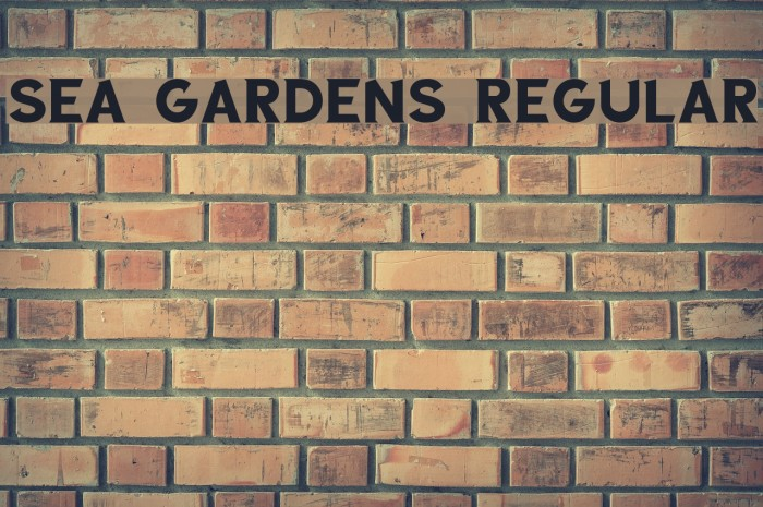 Sea Gardens Regular Font examples