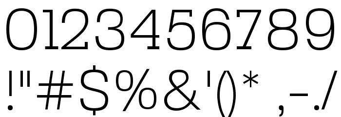 SebSlab-Light Font OTHER CHARS