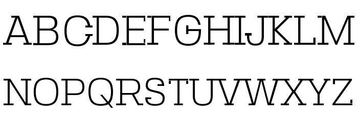 SebSlab-Light Font UPPERCASE