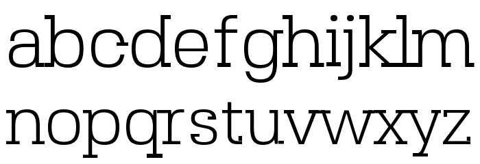 SebSlab-Light Font LOWERCASE