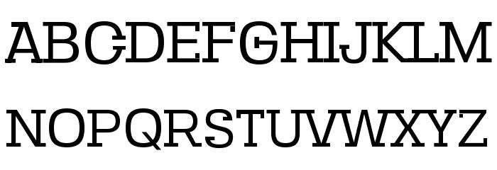 SebSlab-Regular Schriftart Groß