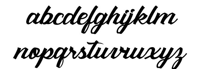 Sebastianapersonaluse Шрифта строчной