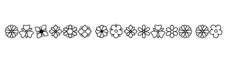 Second Flowers St  Free Fonts Download