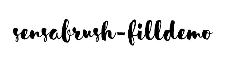 SensaBrush-FillDemo  フリーフォントのダウンロード