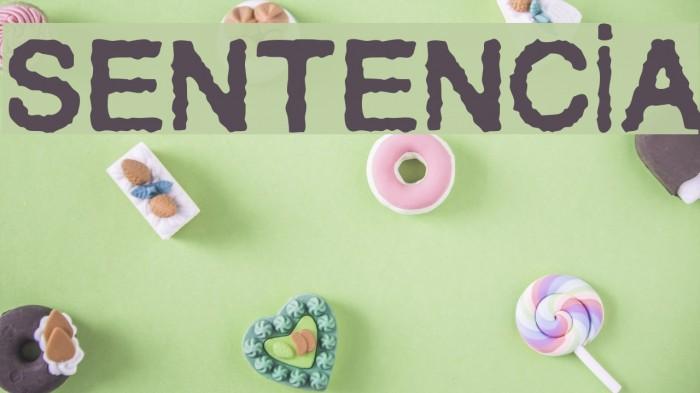 Sentencia Font examples