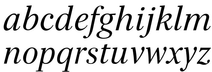 Serif72Beta-Italic Font LOWERCASE