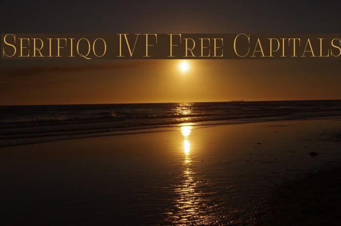 Serifiqo 4F Free Capitals Fonte examples
