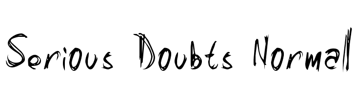 Serious Doubts Normal  Free Fonts Download
