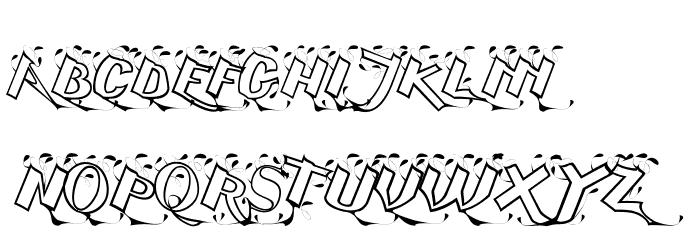 Serling Script Regular Font UPPERCASE