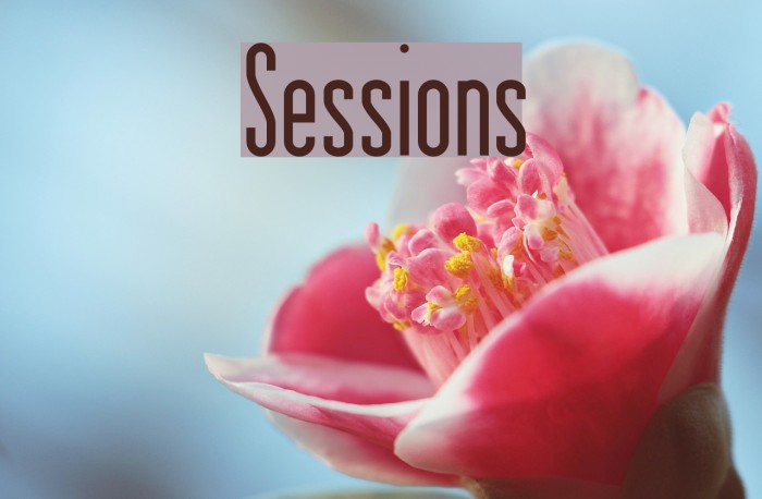 Sessions फ़ॉन्ट examples