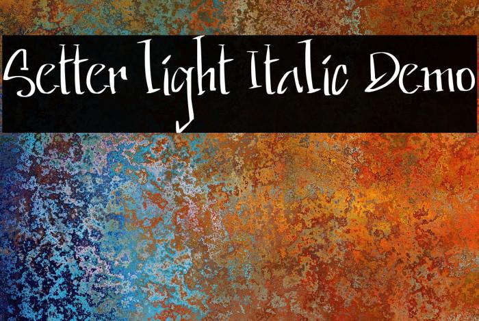 Setter light Italic Demo Fonte examples