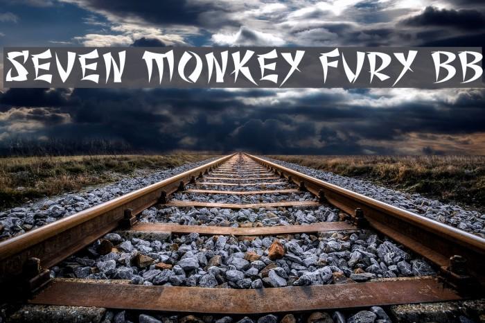 font seven monkey fury bb