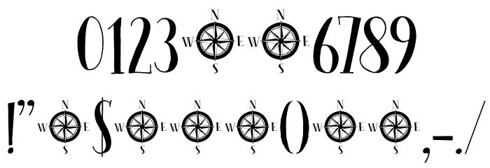 Seven Seas DEMO Regular Шрифта ДРУГИЕ символов