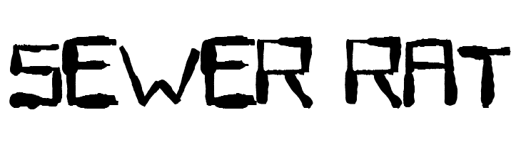 Sewer Rat  Free Fonts Download