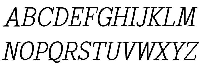 SextanLight-Italic Font UPPERCASE