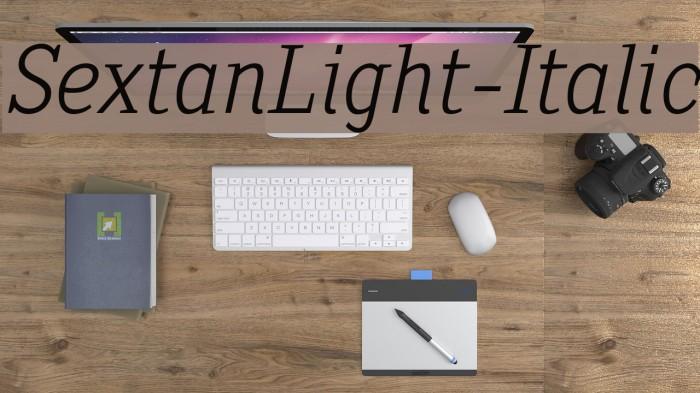 SextanLight-Italic Font examples