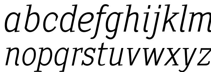 SextanLight-Italic Font LOWERCASE