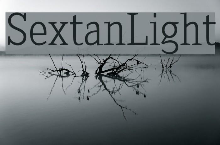 SextanLight Font examples