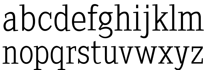 SextanLight Font LOWERCASE