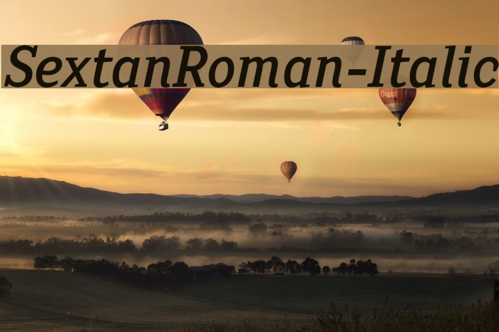SextanRoman-Italic Font examples