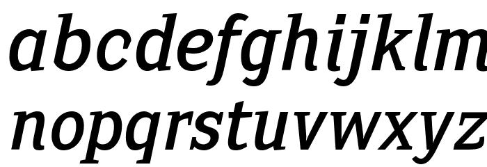 SextanRoman-Italic Font Litere mici
