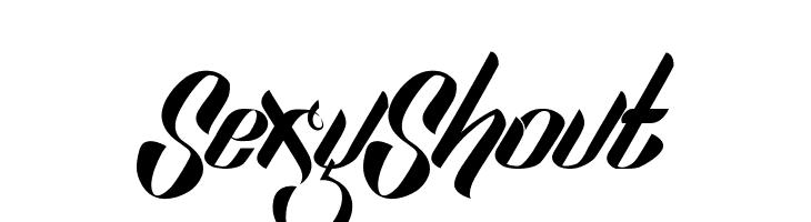 SexyShout  Frei Schriftart Herunterladen