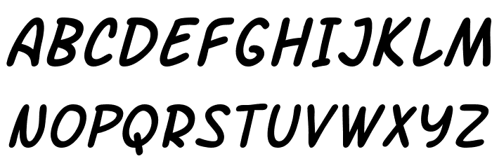 SF Arch Rival Italic フォント 大文字