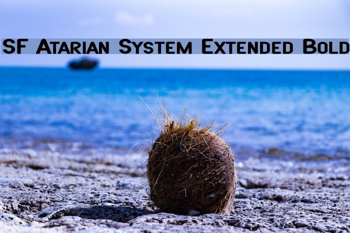 SF Atarian System Extended Bold फ़ॉन्ट examples