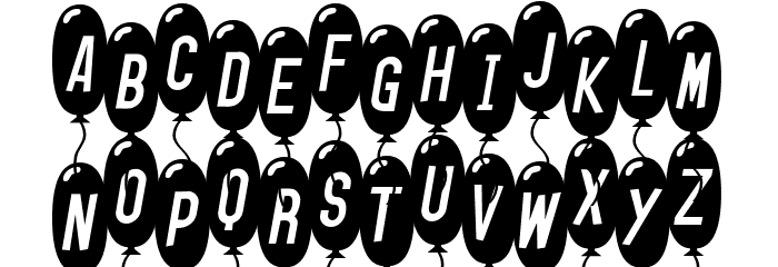 SF Balloons Thin Italic Font UPPERCASE