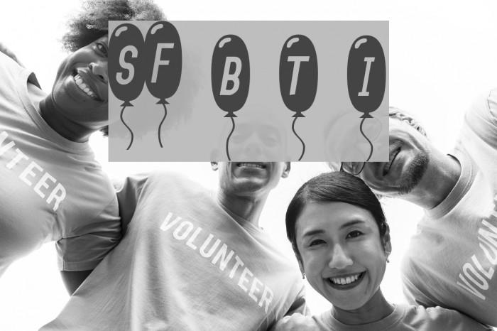 SF Balloons Thin Italic Font examples