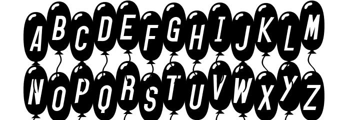 SF Balloons Thin Italic Font LOWERCASE