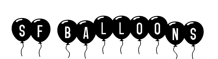 SF Balloons  Free Fonts Download