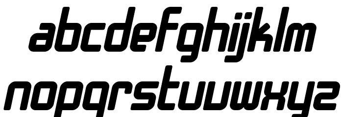 SF Chrome Fenders Bold Oblique Font LOWERCASE