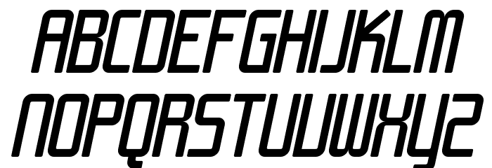 SF Chrome Fenders Oblique Font UPPERCASE