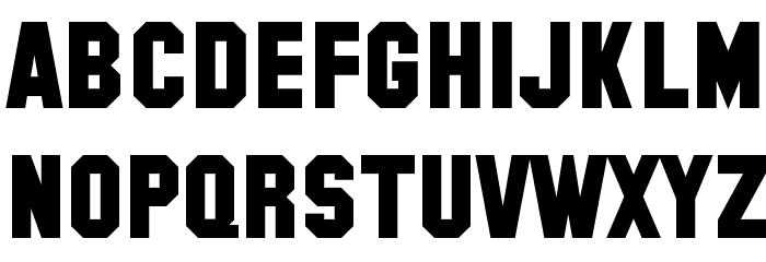 SF Collegiate Solid Bold Font LOWERCASE