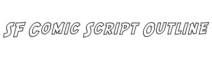 SF Comic Script Outline  Free Fonts Download
