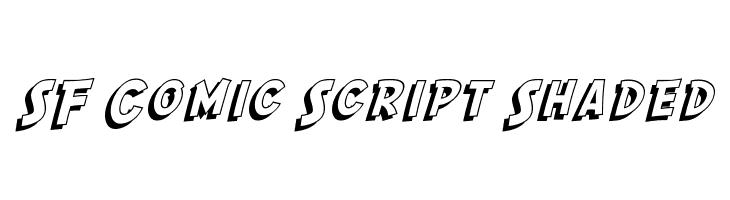 SF Comic Script Shaded  フリーフォントのダウンロード