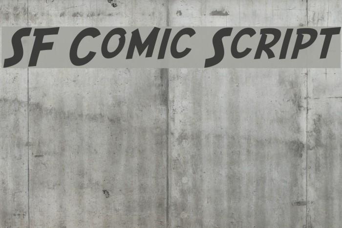 SF Comic Script फ़ॉन्ट examples