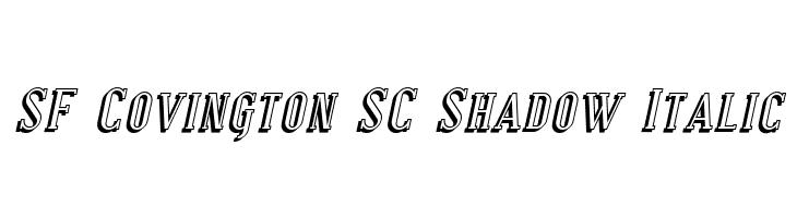 SF Covington SC Shadow Italic  Fuentes Gratis Descargar